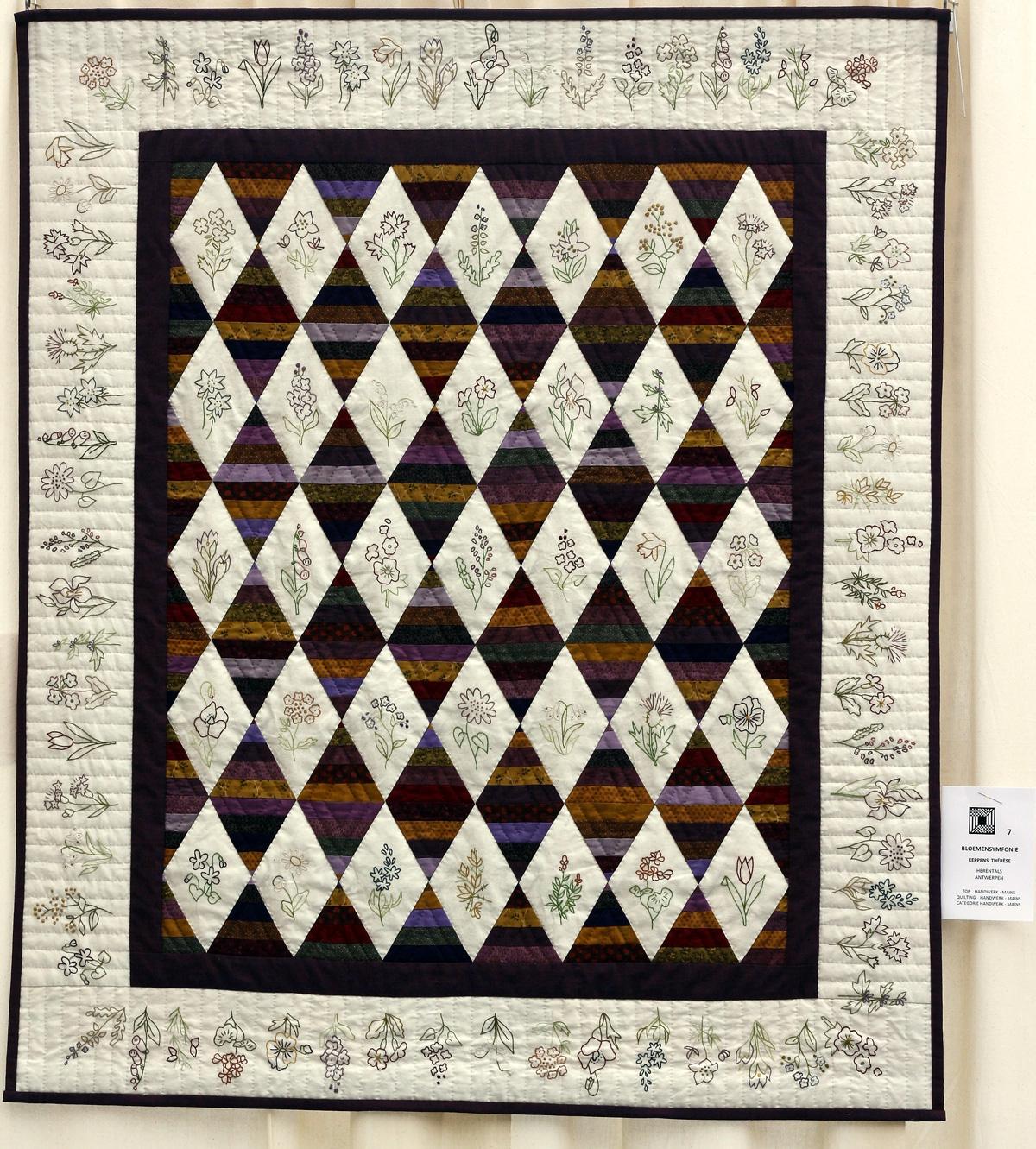 14   n°  07    77    Thérèse Keppens, Antwerpen, Bloemensymfonie,  110 cm x 125 cm