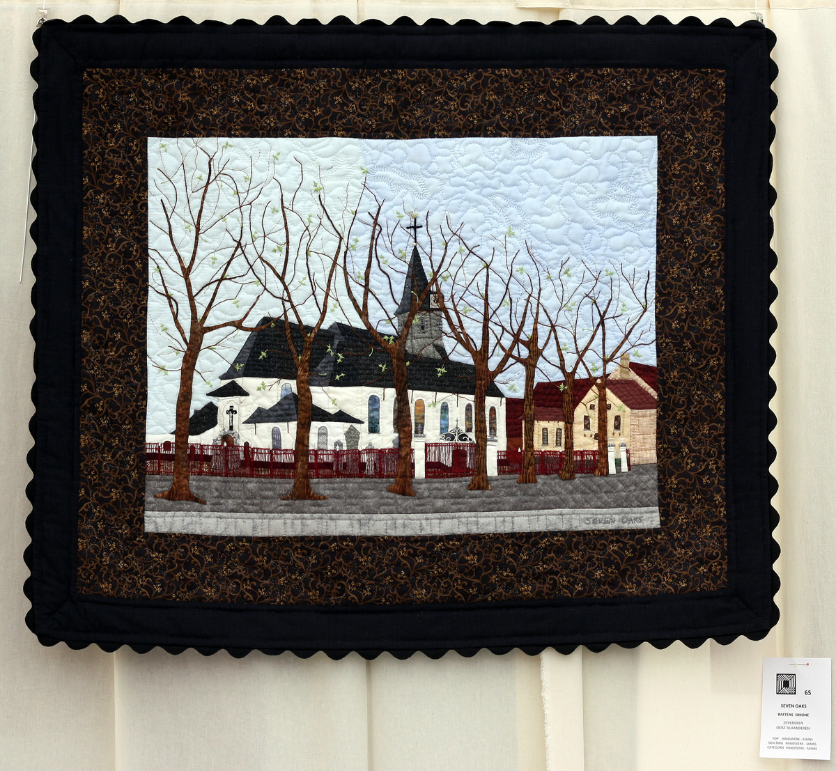 16    n°  65    74    Simone  Baetens, Oost-Vlaanderen, Seven oaks, 108 cm x 92 cm