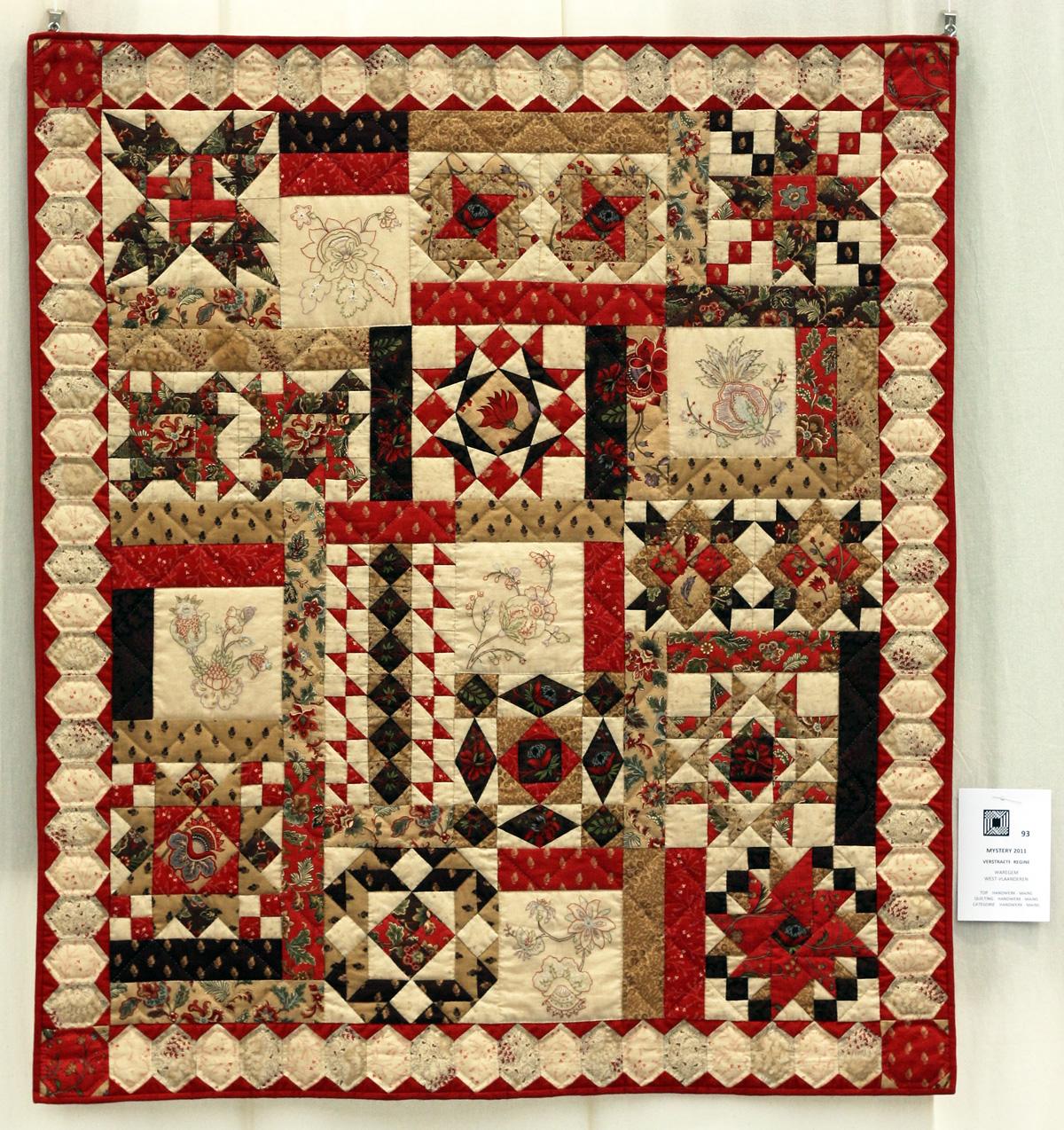 17    n°  93    73    Regine Verstraete, West-Vlaanderen, Mystery 2011, 104 cm x 120 cm