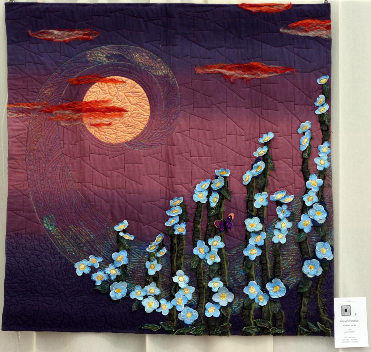 22    n°  06    71   Irene Huypens, Antwerpen, Bloemenexplosie, 100 cm x 100 cm