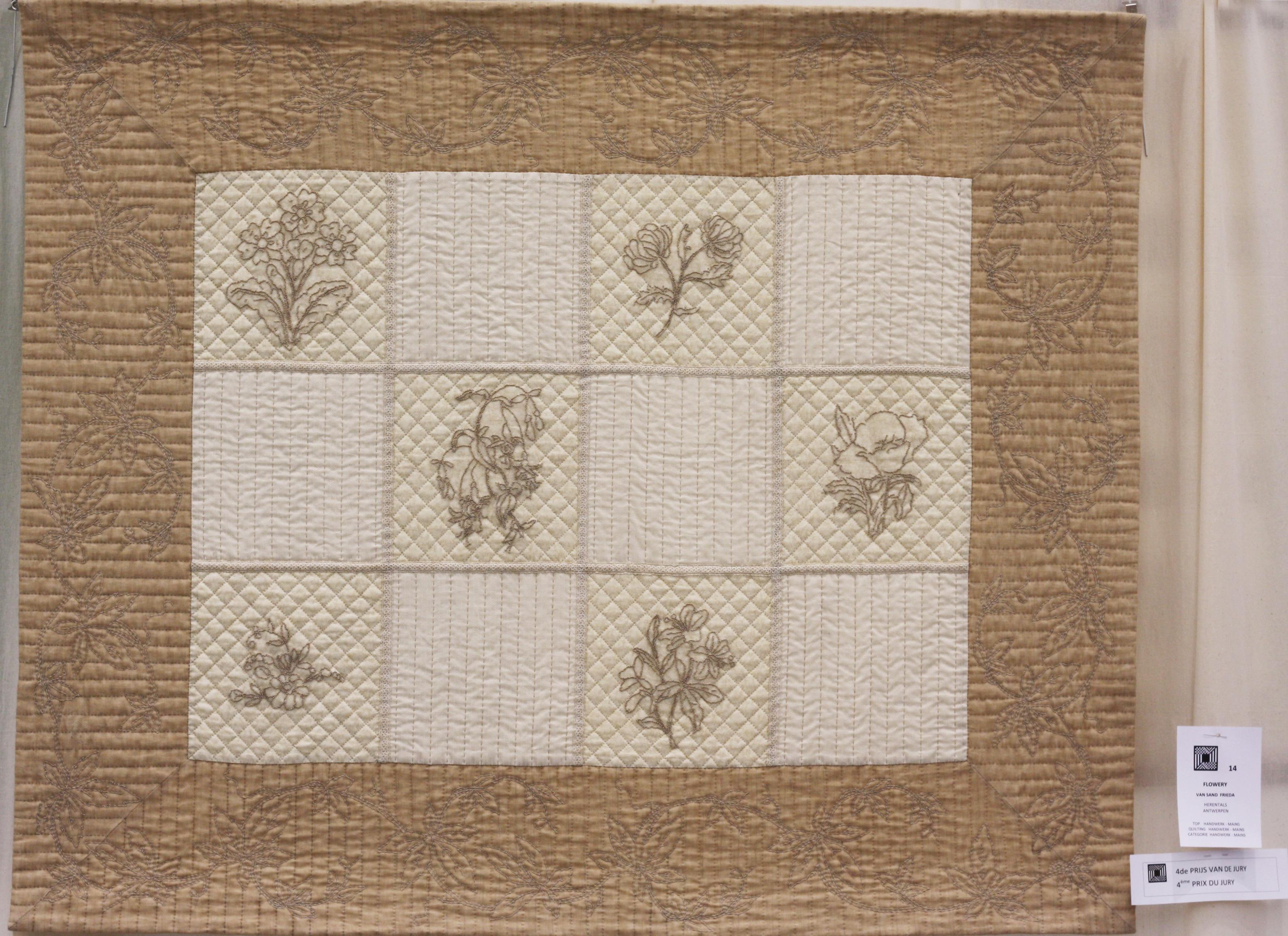 4    n°  14    87    Frieda Van Sand, Antwerpen, Flowery, 139 cm x 114 cm