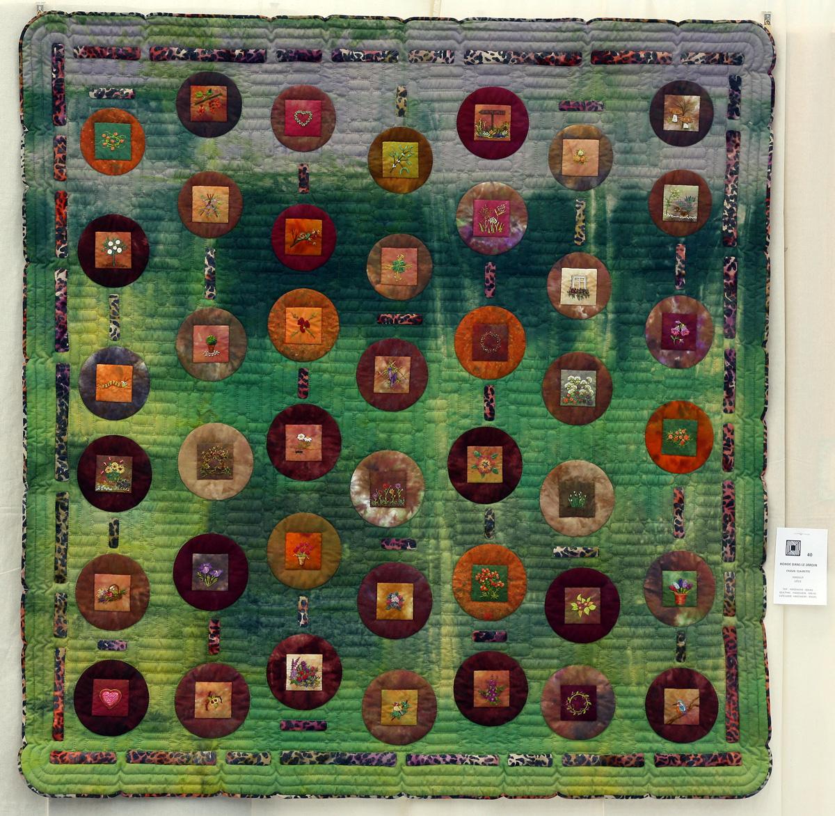 6    n°  40    84    Clairette Fassin, Liège, Ronde dans le jardin, 145 cm x 145 cm
