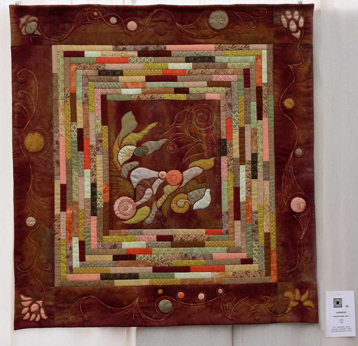 8    n°  45    81    Nelly Lantremange, Liège, Carabosse,  103 cm x 108 cm