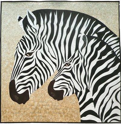 6. Nr. 43 - Zebra, just for fun - 100cm x 100cm - Annik Wiard - Namur - 78 p.