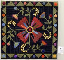 20    n°  68    72    Françoise Lietaert, Oost-Vlaanderen, A bit of folk, 118 cm x 118 cm
