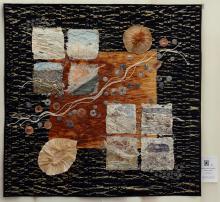 5    n°  67    85    Annelies Ghyselen, Oost-Vlaanderen, Wandelen op het Strand (2), 115 cm x 112 cm